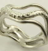 Undersea Silver Octopus Ring, Currents
