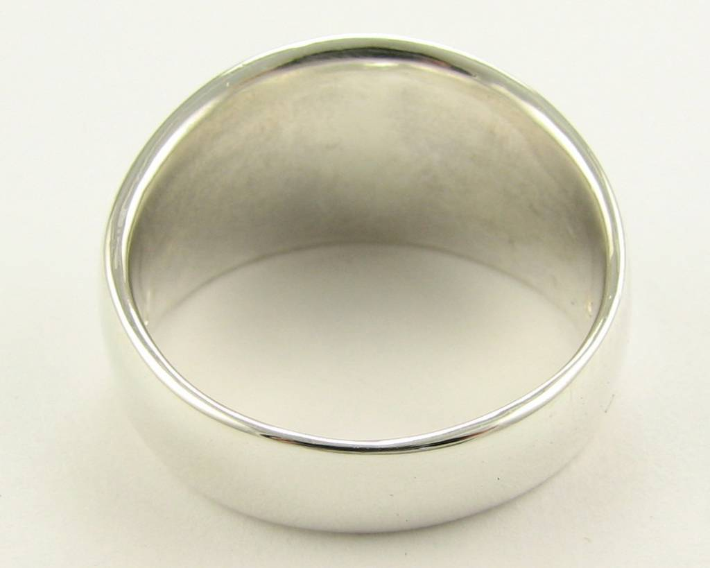 Sleek Silver Ring, Globe Dome Band