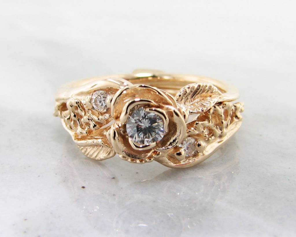 ring and ctw round cut e forever engagement gold one a diamond moissanite ghi white
