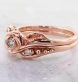 Signature Rose Diamond Rose Gold Wedding Set, Tea Rose