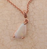 Sleek Rose Gold Opal Pendant, Simplistic