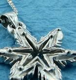 Snowflake White Gold Snowflake Necklace, Ludington