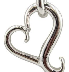 Signature Heart Silver Heart Necklace, Flutter
