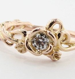 Signature Rose Rose Gold Diamond Engagement Ring, Rose Garden Enhanced