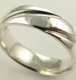 Sleek Silver Wedding Ring, Turban Band Polished