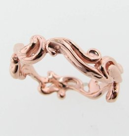 Motion Rose Gold Ring, Cirrus Cloud Band