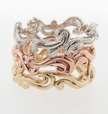 Motion Rose Gold Ring, Cirrus Cloud Band
