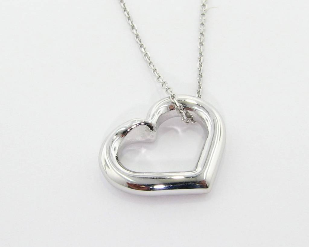 Mi cara heart pendant silver wexford jewelers signature heart mi cara heart pendant aloadofball Choice Image