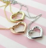 Signature Heart Mi Cara Heart Pendant, Silver