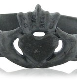 Vintage Blackened  Silver Claddagh Ring