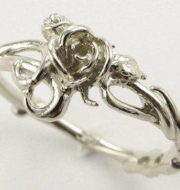 Signature Rose White Gold Engagement Ring, Rose Garden