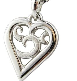 Signature Heart Silver Hear Necklace Two Tone, Inamorata