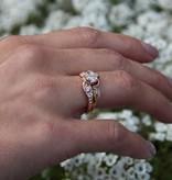 Signature Rose Diamond Rose Gold Wedding Ring Set, Prize Tea Rose