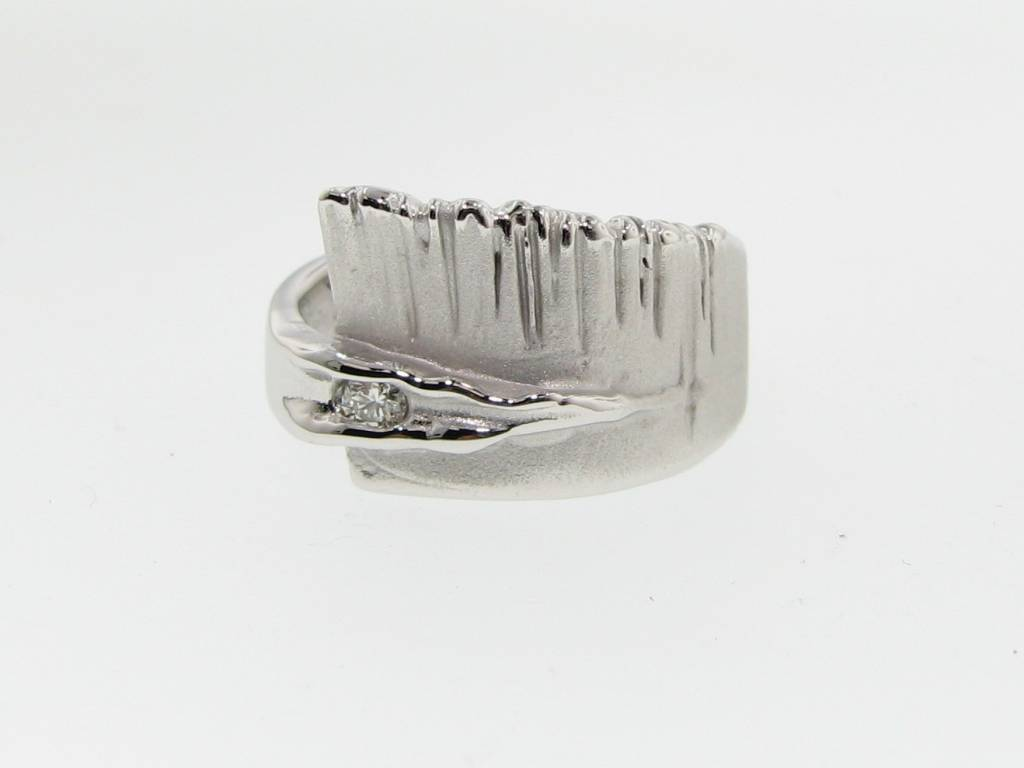 Rustic Diamond Silver Ring, Sequoia