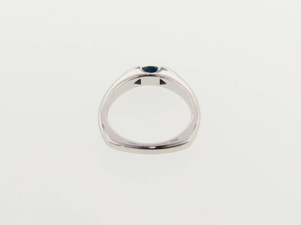 Sleek Marquise Sapphire White Gold Ring, Sleek East To West