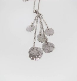 Hammered Silver Necklace, Hammered Waterfall