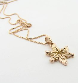 Snowflake Rose Gold Snowflake Necklace, Ludington