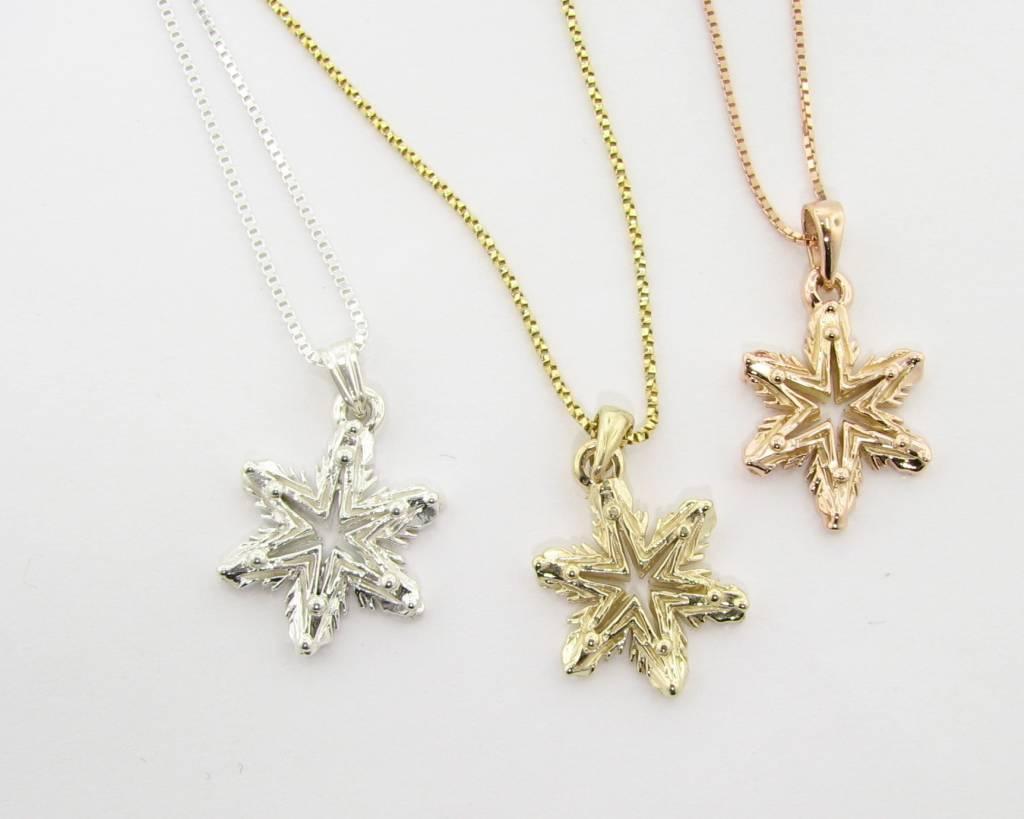 Yellow gold snowflake necklace ludington wexford jewelers ludington snowflake yellow gold snowflake necklace ludington aloadofball Images