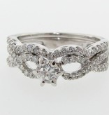 Timeless Bridal Diamond White Gold Infinity Wedding Ring Set