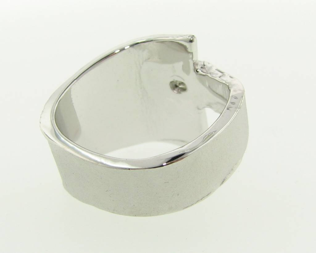 Rustic Princess Cut Diamond Silver Ring, Sequoia