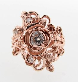 Signature Rose Rose Gold Moissanite Wedding Ring Set, Jane Rose