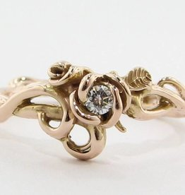 Signature Rose Rose Gold & Moissanite Ring, Rose Garden