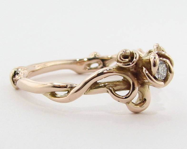 Signature Rose Rose Garden Ring, Rose Gold & Moissanite
