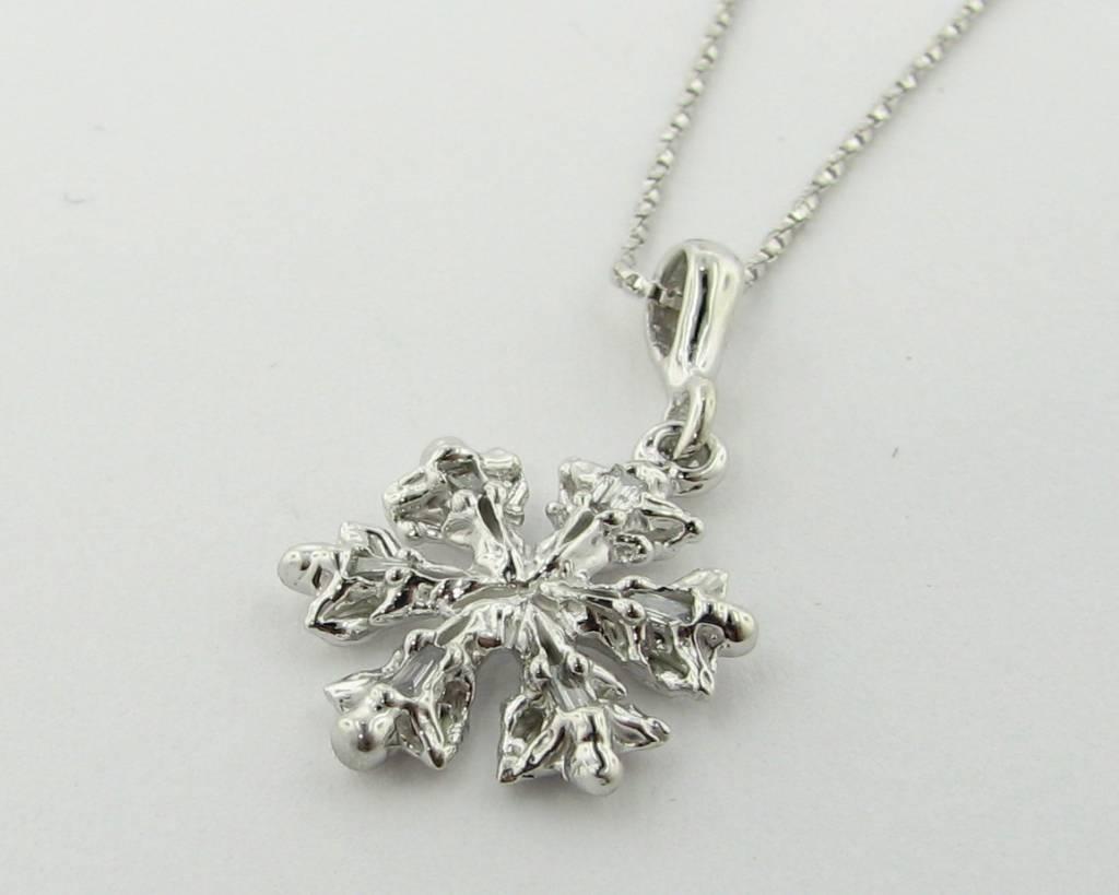 Snowflake Diamond White Gold Snowflake Pendant, Alpena