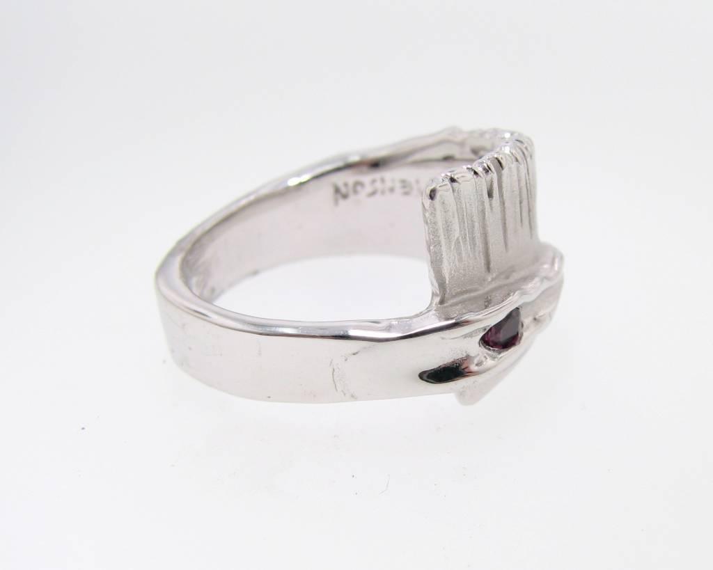 Rustic Purple Sapphire Silver Ring, Sequoia