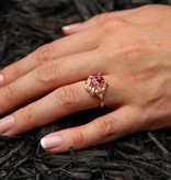 Signature Rose Pink Tourmaline Rose Gold Ring, Wreath