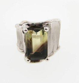 Organic Silver Smoketrine Ring Silk