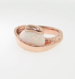 Sleek Opal Rose Gold Ring, Sweep
