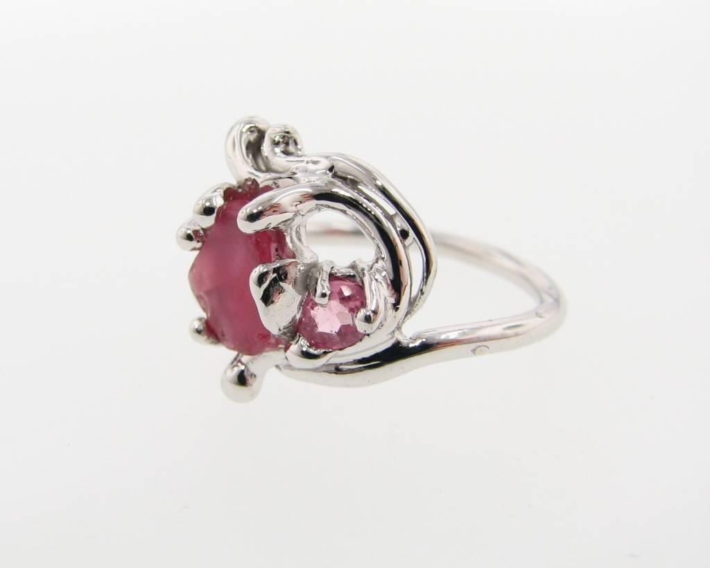 silver sapphire tourmaline ring intermezzo wexford jewelers