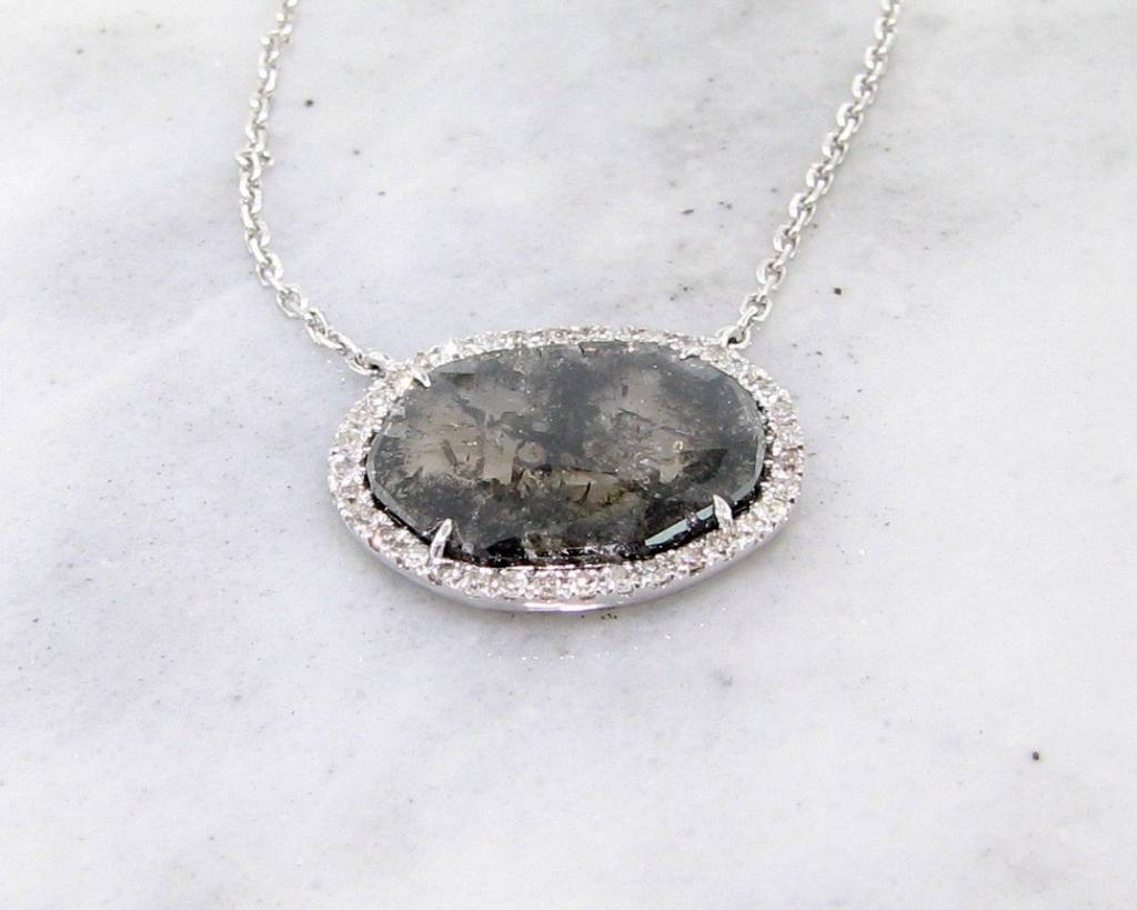 cut stone unconventional quarts london pendant rw raw black tourmaline necklace