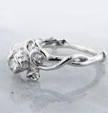 Signature Rose Diamond Silver Ring, Rose Garden, Three Stone