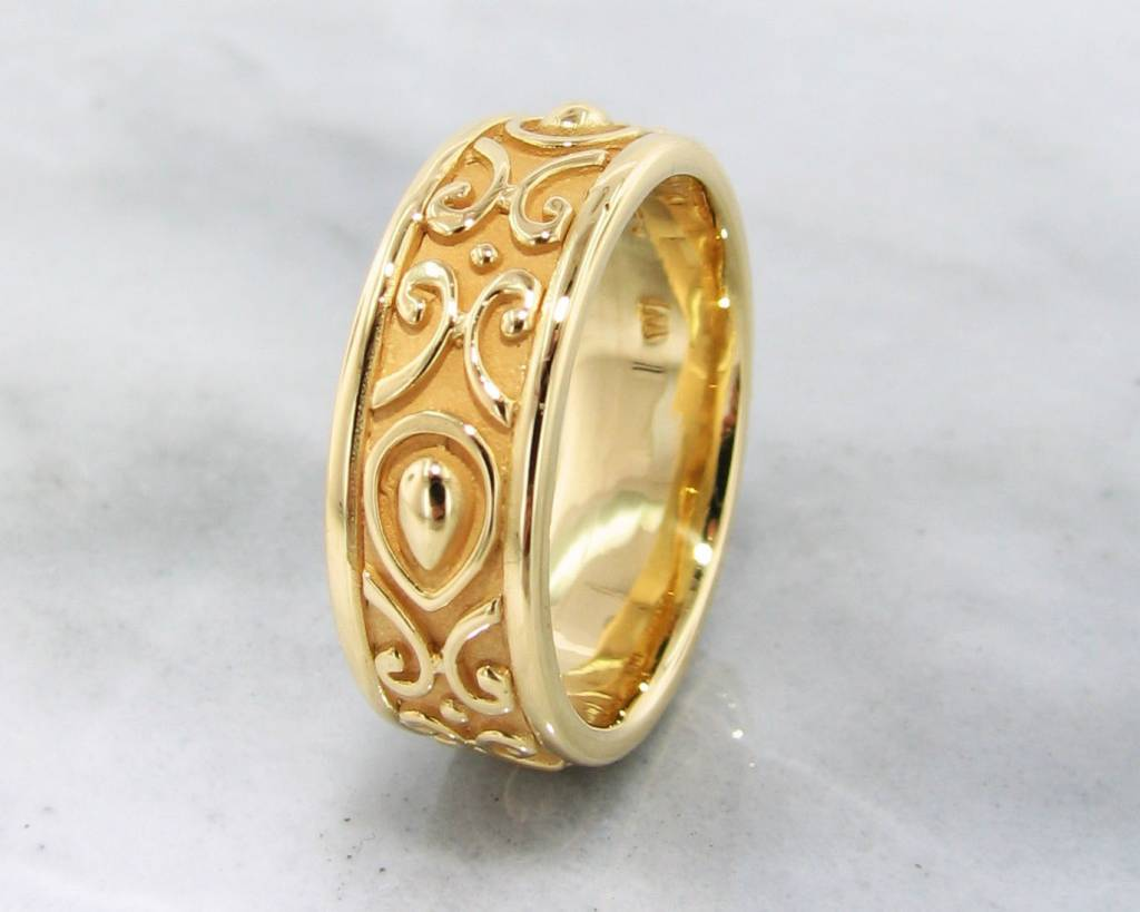 handcrafted ring gold hallmarked rings il us size bzki yellow intricate and genuine goldshine etsy market solid