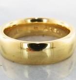 Sleek 22K Yellow Gold, Wide Band