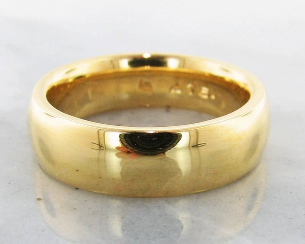 Sleek 22k Yellow Gold Wide Band