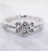 Vintage Diamond Two Stone White Gold Ring