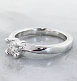 Timeless Bridal Moissanite Silver Ring Solitaire, Wexford Standard Engagement