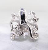 Undersea Silver Octopus Ring