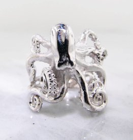 Undersea Silver Octopus Ring