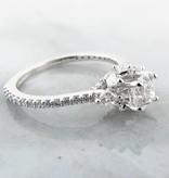 Trending Bridal Diamond White Gold Engagement Ring, Crown