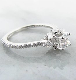 Trending Bridal Diamond White Gold Engagement Ring, Crown