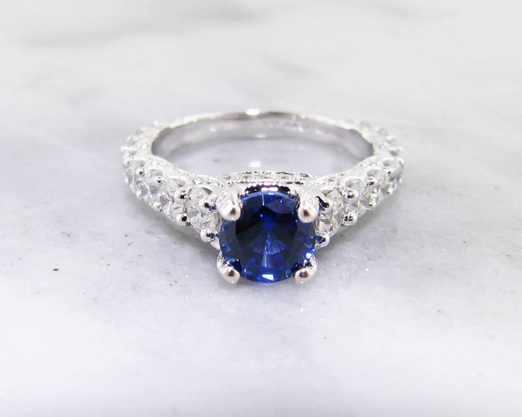 Diamond Sapphire White Gold Ring Wedding Ring 166ct TDW Wexford