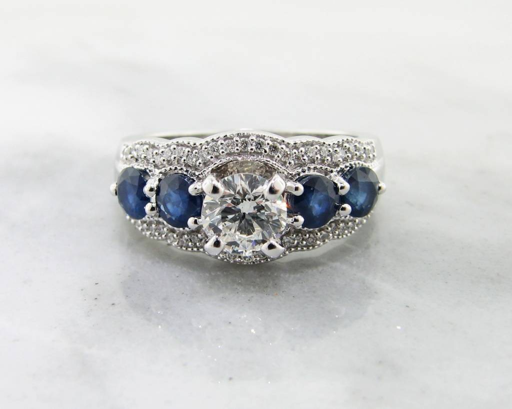 haley oval engagement sapphire curved halo unique dana split blue ring wave products rings nature ss inspired gray ken design band