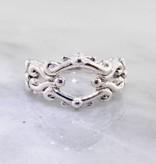 Vintage Silver Ring, A La Victorian Band