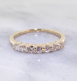 Timeless Bridal Diamond Yellow Gold Ring, 0.35ct TDW Band