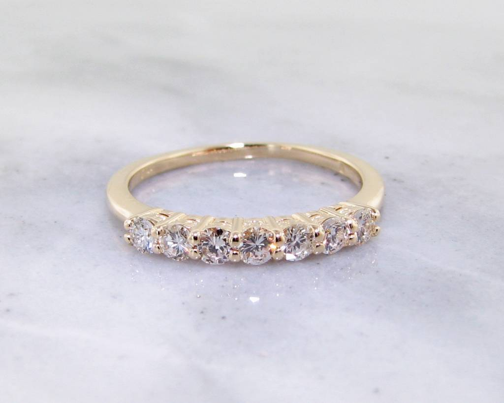Diamond Yellow Gold Ring, 0.35ct TDW Band - Wexford Jewelers