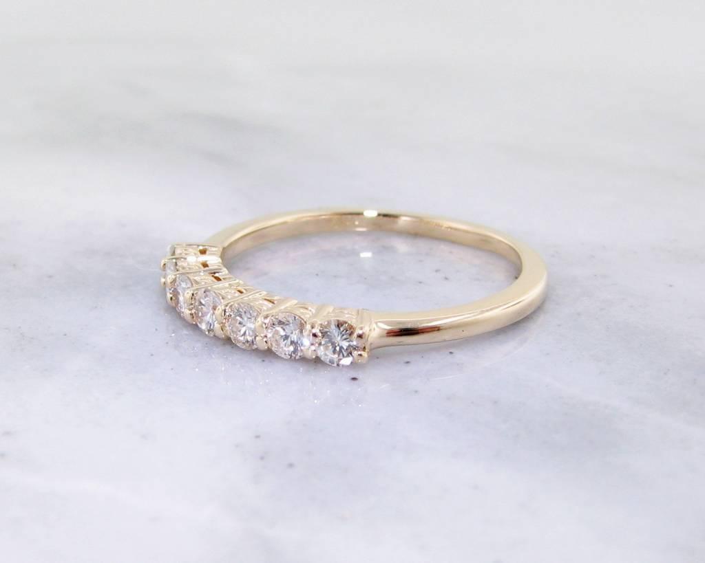 Timeless Bridal Diamond Yellow Gold Ring, 0.35ct TDW Band